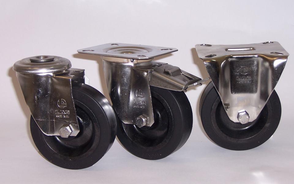 Gamma ruote serie FN + supporto SI