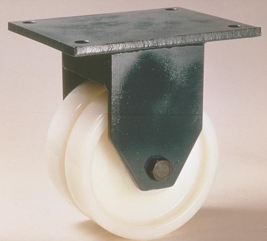 Ruote serie P con supporto G80 Ruote monolitiche in polyammide 6 disponibili con cuscinetti a sfere di precisione schermati o inox, rullini standard o inox e a foro passante. Ruota con cuscinetti a sfere.