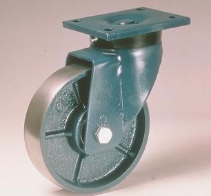 Ruote serie Q con supporto E70 Ruote in ghisa con cuscinetti a sfere o a foro passante. Ruota con cuscinetti a sfere.