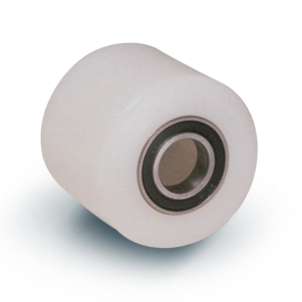 Wheel series RP Monolitic polyammide 6 rollers availble with or without ball bearings. Wheel fitted with precision stainless steel ballbearings, sealed (2RS).