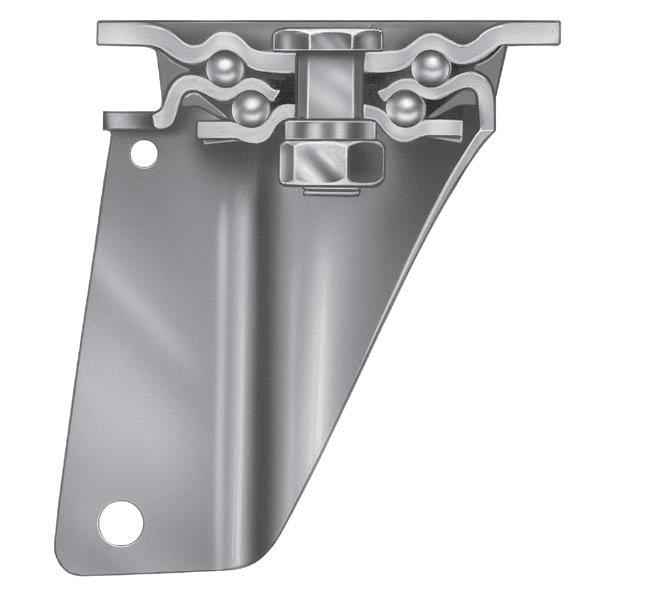Supporto per ruote INOX40 - Supporti pesanti in acciaio inox.