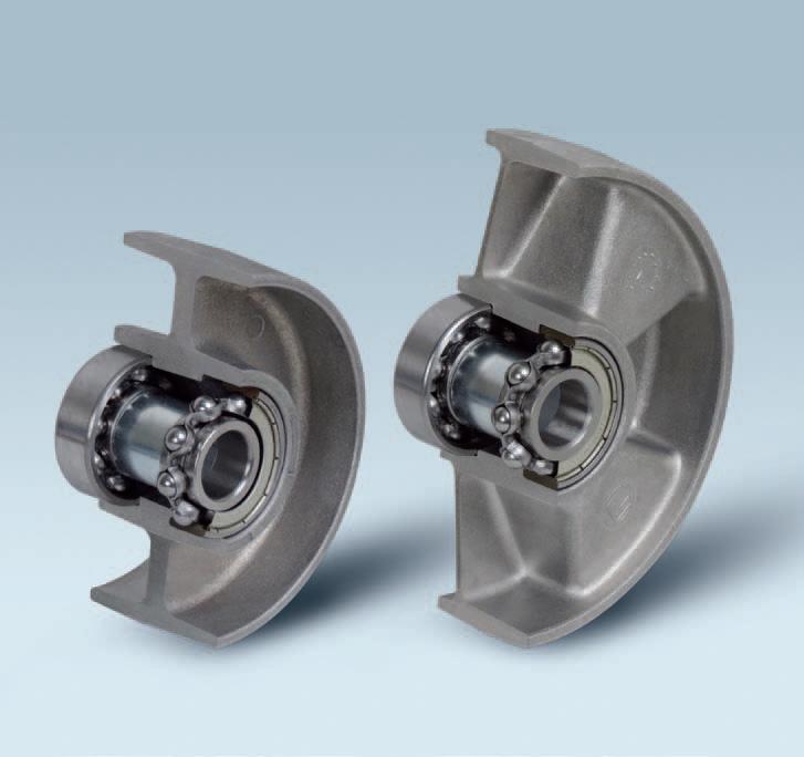 Ruote serie U ULTRA - Ruote monolitiche in alluminio idonee per alte temperature (-40°C / +270°C). Disponibili con cuscinetti a sfere standard o inox