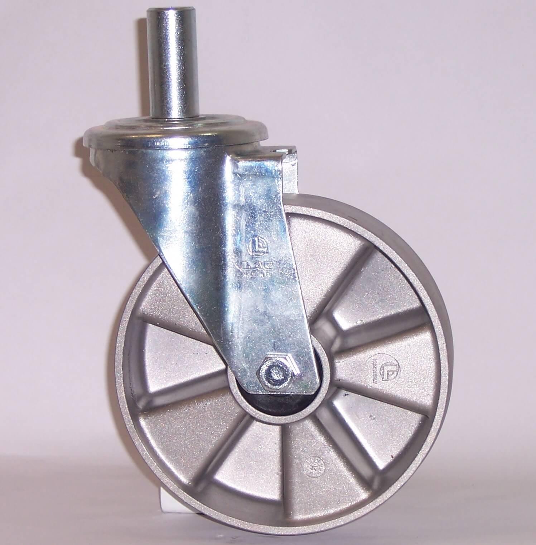 Ruote serie U con supporto M22 Ruote monolitiche in alluminio idonee per alte temperature (-40°C / +270°C). Disponibili con cuscinetti a sfere standard o inox Ruota con cuscinetti a sfere.