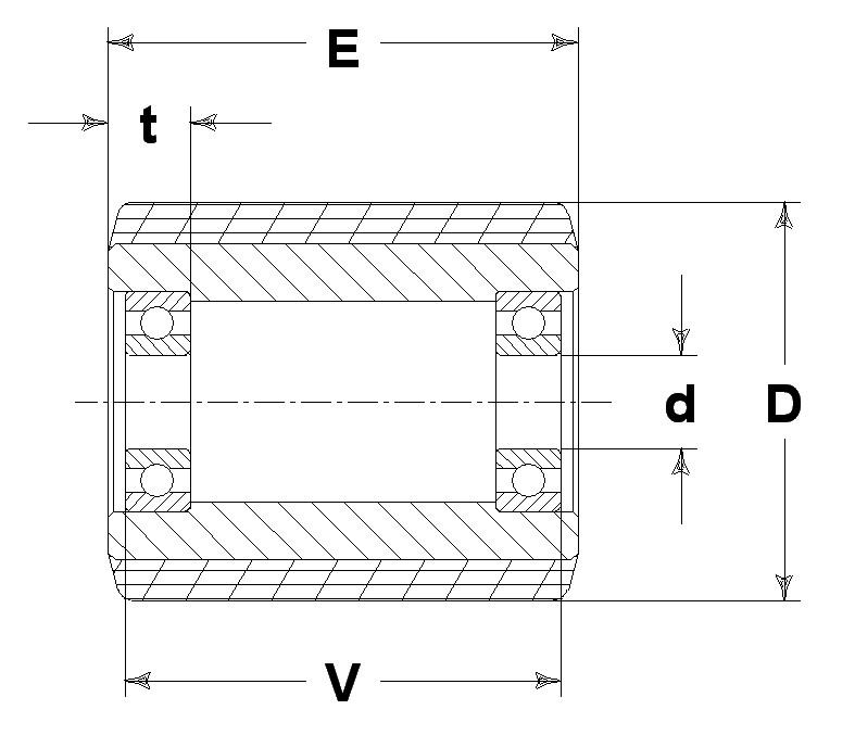 Ruote serie RO Rulli transpallet in poliuretano colato soffice 87 Sh.A. con mozzo in poliammide 6. Disponibili con cuscinetti a sfera standard o inox.  Alcuni articoli prevedono semibussola di riduzione con schermo protezione cuscinetto. Ruota con cuscinetti a sfere di precisione in inox a tenuta stagna (2RS).