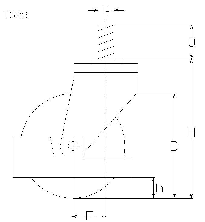 RUOTA E 125X50/50 CC SCF M22 M14X30+P.PI