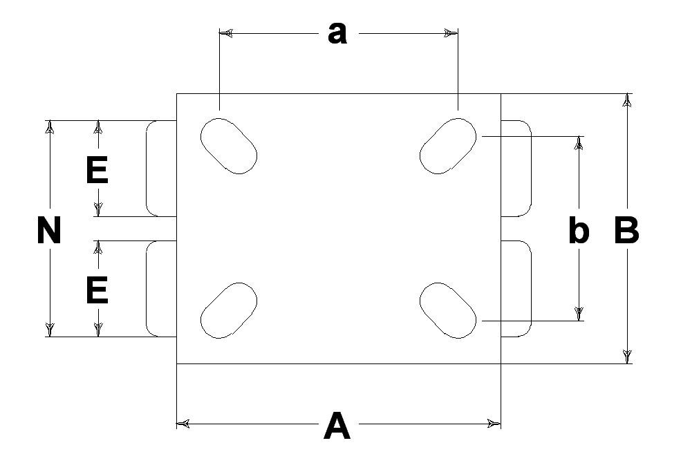 Ruote serie ZS con supporto G80 Ruote in poliuretano colato 87 Sh.A tipo soft con mozzo in ghisa. Disponibile con cuscinetti a sfere di precisione schermati. Ruota con cuscinetti a sfere.