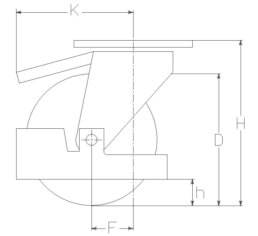 RUOTA A 125X30/40 FP SPG M40/50+FR+P.PIE