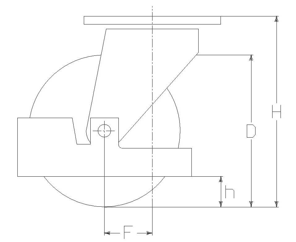 RUOTA B 200X50/60 BN SPG M22 +P.PIEDE