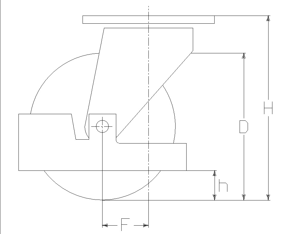 RUOTA ZS 125X40/50 CC SPG M40L +P.PIEDE