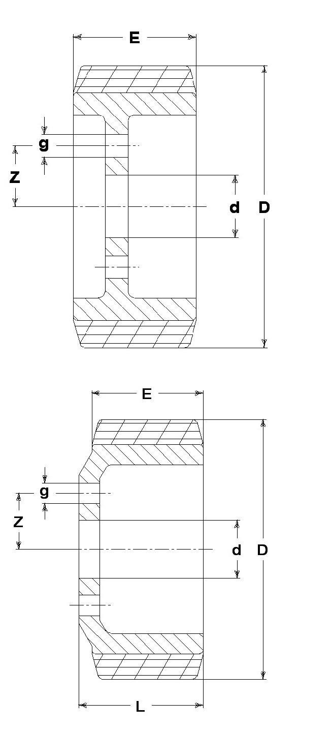 Ruote serie ZM Ruote motrici in poliuretano durezza 95+/-3Sh.A. La portata è riferita ad una velocità di 6 km/h. <br/>N.6 fori diametro 14 mm su raggio di 56 mm.