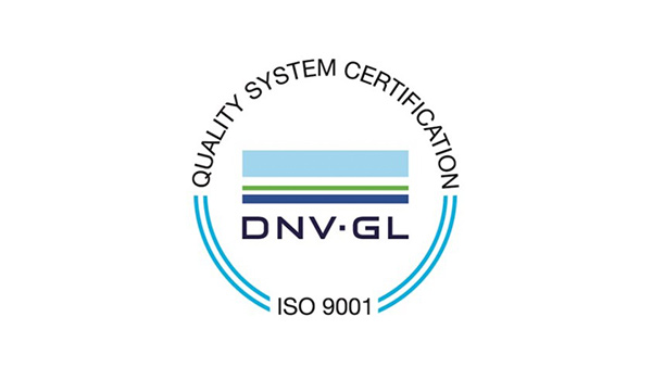 Quality System Certification DNV GL ISO 9001