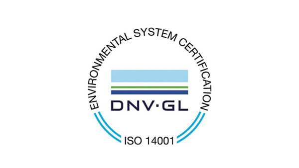 Environmental System Certification DNV GL ISO 14001